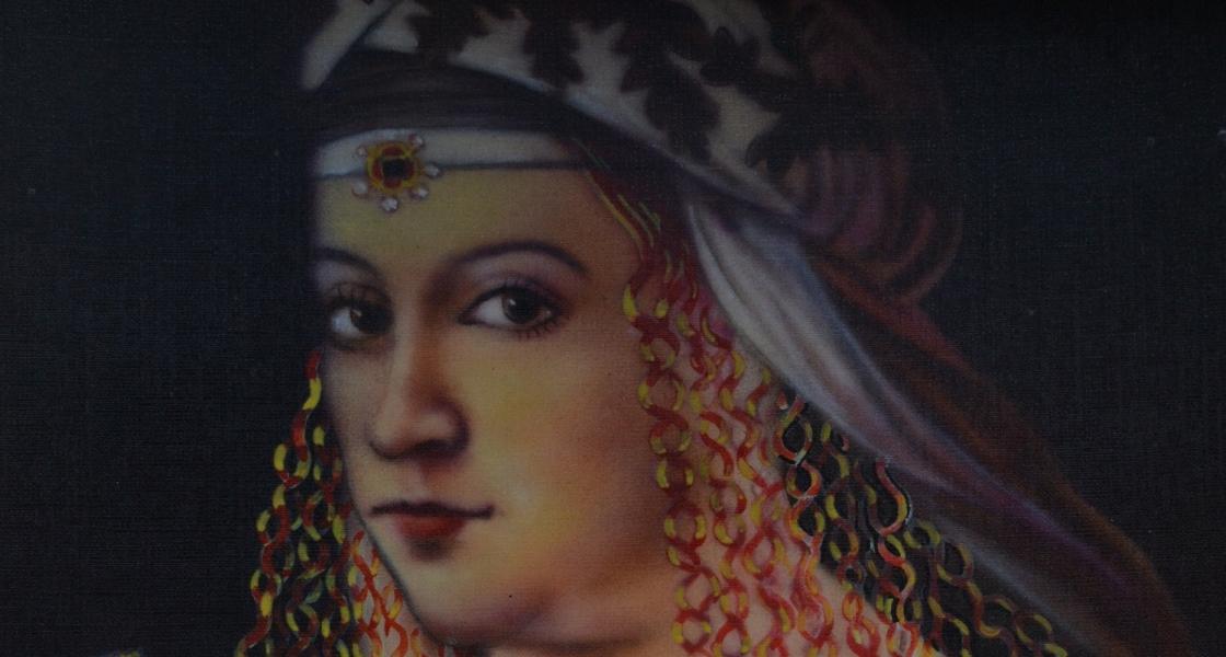 """Borgia of Italia""       Water Colour Portrait with Airbrush on paper."