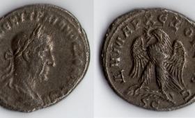 ROMAN EMPIRE TRAJAN DECIUS SILVER TETRADRACHM AD 249-251.