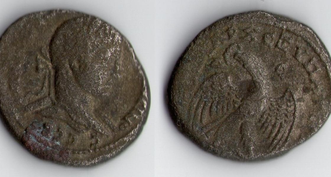 ROMAN EMPIRE CARACALLA SILVER TETRADRACHM AD. 213-217.