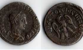 ROMAN EMPIRE GORDIAN III SILVER TETRADRACHM AD 240.