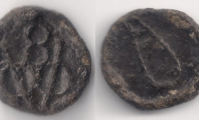 Indo-Dutch, Tin 8 Bazaruk, 1724-95 AD, Kochi (Cochin) mint, 1.16 gm., KM#3